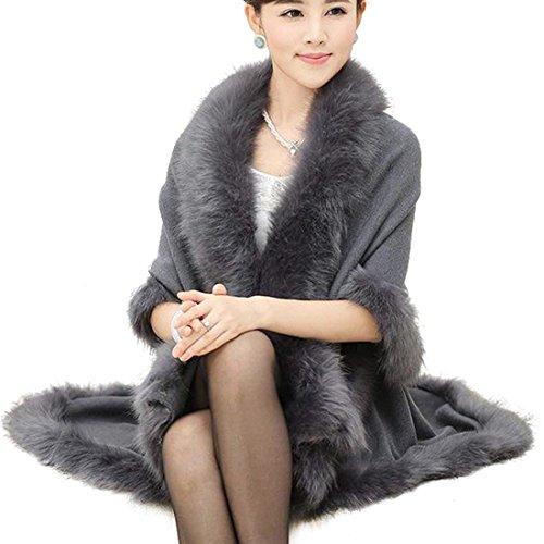 Femme Felljacke fashion HX Hiver Automne Cardigan Pqw55z1