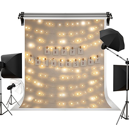 Kate 6.5x10ft/2x3m(W:2m H:3m) Father's Day Photo Backdrop Light Spot Shining Backdrops Happy Father's Day Photography Backgrounds]()