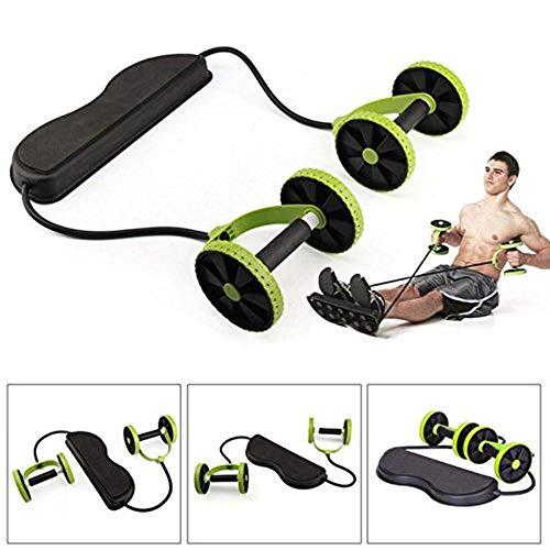 Xxsmile Multi Función Fitness Ruedas Dobles ABS Kit Entrenador Abdominal Kit Equipo de Ejercicio de Resistencia Set Home…