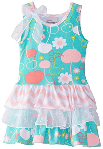 Flap Happy Baby Girls' Tessa Triple Ruffle Dress, Cherry Blossoms, 18 Months