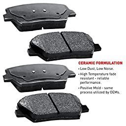 R1 Concepts CEOE11010 Eline Series Replacement Rotors And Ceramic Pads Kit - Front and Rear