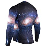 The Milky Way Galaxy Mens Cycling Jersey Jacket