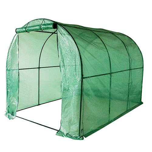 Sundale Outdoor Gardening Large Hot Green House with PE Cover and Zipper Door, Waterproof Walk in Plant Green House, UV Protection, Insect Prevention, 114.8''(L) x 77.4''(W) x 76.4''(H) by Sundale Outdoor
