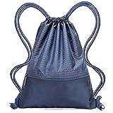 Drawstring Bag,Nylon Waterproof Sport Gym Bag Sackpack-Lightweight and Foldable Cinch Sack Drawstring Backpack for Sports Travel Swimming