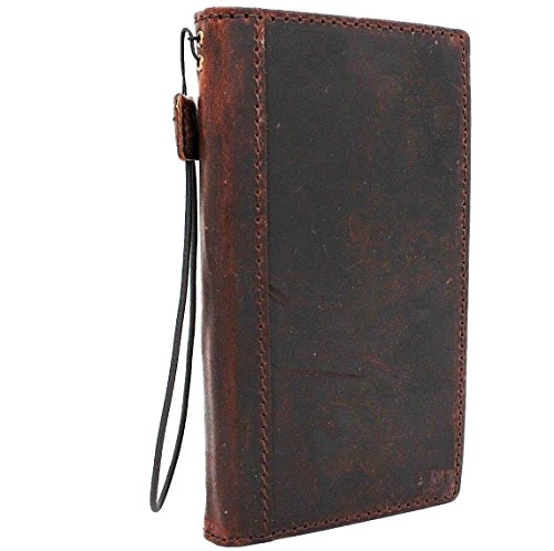 Genuine italian Leather Case for iphone 6 Plus Book sllim Wallet Handmade Luxury Daviscase (Iphone 6 Case Book)