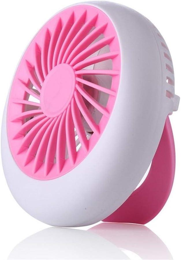 Color : Green Fan Children Mini Fan USB Charging Desktop Strong Wind Portable Round Small Fan Dormitory Mini Portable Cooling Fan