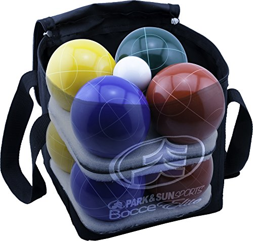 Park & Sun Sports Bocce Ball Set with Deluxe Carrying Bag: Tournament Elite, 100 mm Poly-Resin Balls by Park & Sun Sports (Image #3)