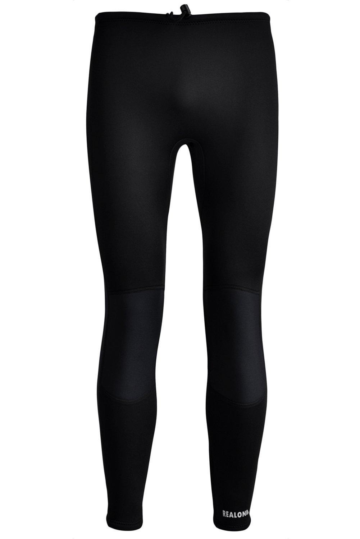 realonウェットスーツパンツネオプレン3 mm XSPANダイビングサーフィン水泳シュノーケリングパンツメンズレディース B07JMZD8HD ブラック XXX-Large