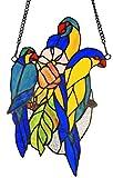 Chloe Lighting Bluetail Tiffany-Glass Window Panel 13''