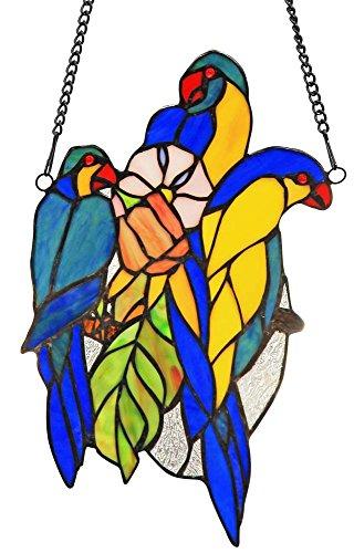 Chloe Lighting Bluetail Tiffany-Glass Window Panel 13'' by Chloe Lighting (Image #2)