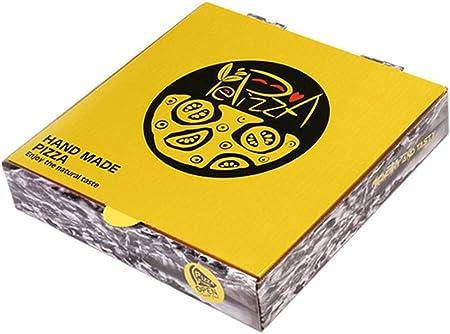 FGSJEJ Caja de Pizza desechable, for Llevar Caja de Embalaje, de Tres Capas de la Caja de Embalaje de Espesor, la Caja de Almacenamiento de Alimentos, 100pcs, 6