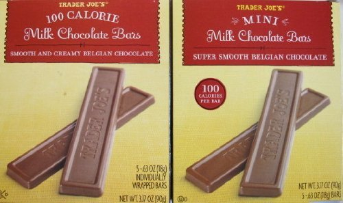 2 Boxes Trader Joe's Mini Milk Chocolate Bars…100 Calories Per Bar by Trader Joe's [Foods]