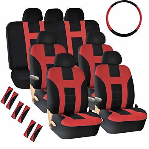 - U.A.A. INC. Ⓡ Air Bag Compatible Seat Covers Steering Belt Pads for Vans