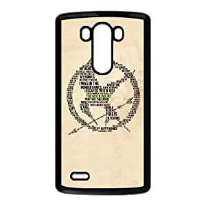 CTSLR Laser Technology The Hunger Games Quote TPU Case Cover Skin for Cheap ,TPU Phone case for LG G3,black