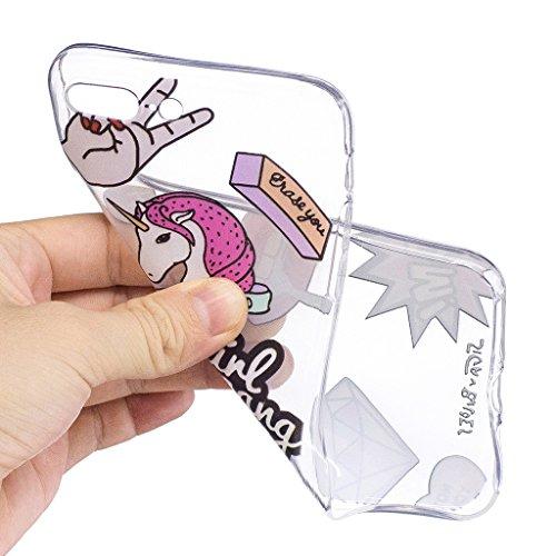 Per iPhone 7 Plus Custodia ,Per iPhone 8 Plus Custodia ,ZXLZKQ Cavallo Trasparente Morbido TPU Silicone Coperchio Skin Shell Caso Cover Bumper Protezione Case Per iPhone 7 Plus / iPhone 8 Plus