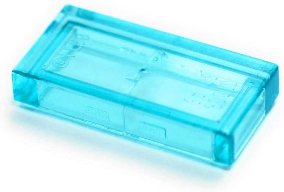 Bulk Legos: Transparent Light Blue 1x2 Tiles (100 pcs) by LEGO