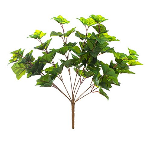- Darice English Ivy Bush: 18 inches, 9 Tips Artificial Plant Green