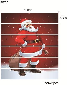 Pegatinas De Escalera Decorativas De Santa Claus Para El Hogar. Pegatinas De Pared. Pegatinas De Pared. Pegatinas De Pared.: Amazon.es: Bricolaje y herramientas