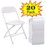 Cheap Plastic Folding Chairs JAXPETY Commercial Plastic Folding Chairs Stackable Wedding Party Event Chair White (20-PACK)