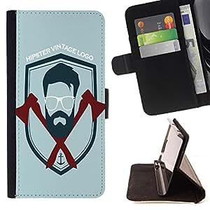 King Case - FOR Apple Iphone 6 - Just do it - Prima caja de la PU billetera de cuero con ranuras para tarjetas, efectivo Compartimiento desmontable y correa para la mu?eca