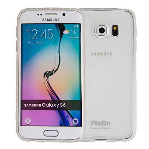 Fixon® Samsung Galaxy S6 JELLY Series TPU Protective Case Cover **New** Slim Fit [Camera Lens Defense] [Drop Protection] [Scratch Resistant] - MADE IN KOREA ([Crystal Clear]) (Jelly Camera Lens)