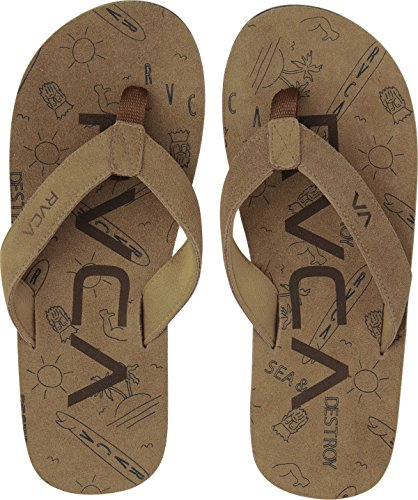 Sandals Synthetic flop Federal Rvca Tan Flip xwY5qEOE