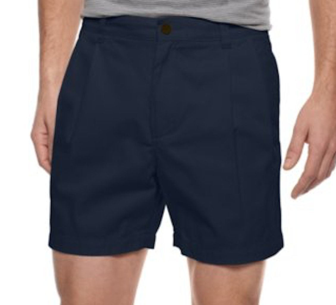 Club Room Core Double Pleat Twill Shorts Officer Navy 40