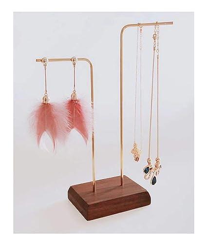 Exhibition Stand Jewelry : Amazon beautify walnut wood brass jewelry display stands