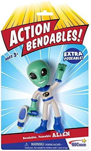 NJ Croce Action Bendables Alien Figure 4-Inch