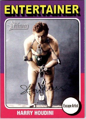 2009 Topps American Heritage Baseball Cards # 84 Harry Houdini (Escape Artist)(Entertainer) Trading (Fleer Sportscards)