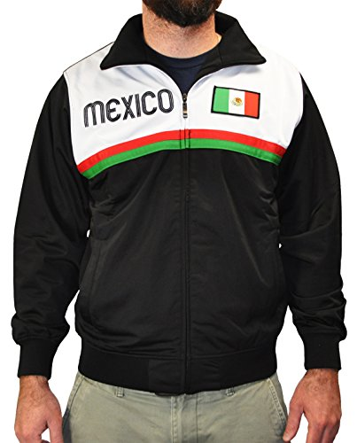 Amdesco Men's Mexico Mexican Pride Sport Track Jacket, X-Small ()