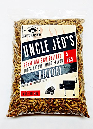 Hickory BBQ Wood Pellets - Barbecue Grilling Pellets 5lb Bag, Wood Smoke Flavor by Uncle Jed