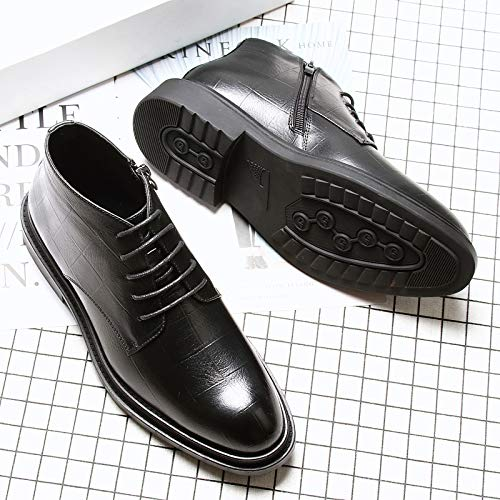 Martin Zyuq Black Alta Hombres Zapatos Moda Hombre Ayuda Para Altos Punta Negocios De Casual Botas En RRnFqwvf