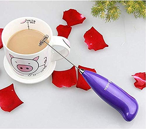 Coffee Handhold Milk Frother Battery Operated Foam Maker Electric Egg Beater with Stainless Steel Whisk