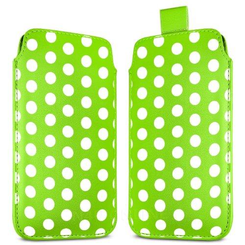 N4U Online - Apple Iphone 5C prime Polka Dot Design PU Pull en cuir flip Tab Housse Etui - Vert
