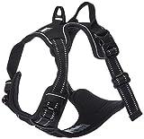 Chai's Choice Best Outdoor Adventure Dog Harness (Medium, Black)