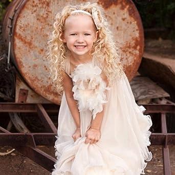 73eba4150a81c Amazon.co.jp: 女の子の甘い喜び~フェザードレス 「Sweet Delight Girls Feather Dress」2歳から14歳   服&ファッション小物