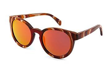 22aa8f85ef CoFash Gafas de sol unisex estilo retro chino con lentes polarizadas Color  de madera hecho a mano eyewear enmarcado Lente ligera gradiente gafas  anteojos ...