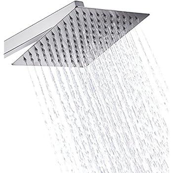 eyekepper stainless steel shower head rain style showerhead waterfall effect elegantly designed