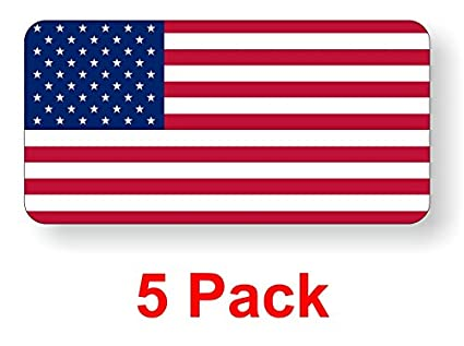 5 american flag hard hat stickers decals labels tool lunch box helmet