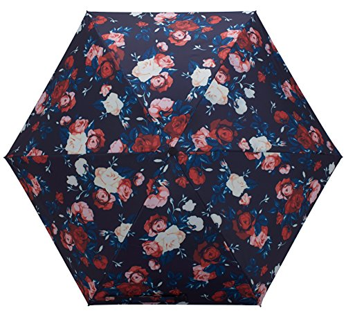 Review Fidus Ultra light Mini Compact Travel Umbrella – Windproof Portable Parasol Sun & Rain Outdoor Golf Umbrella With 95% UV Protection for Women Men Kids-roses