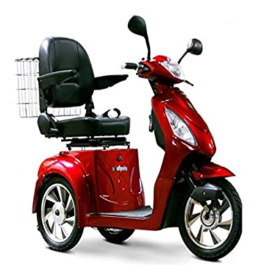 EW 36 Mobility scooter. Red. Up to 18Mph and 45 Miles on a Single charge. Delivers Fully Assembled. Fast Mobility Scooter.