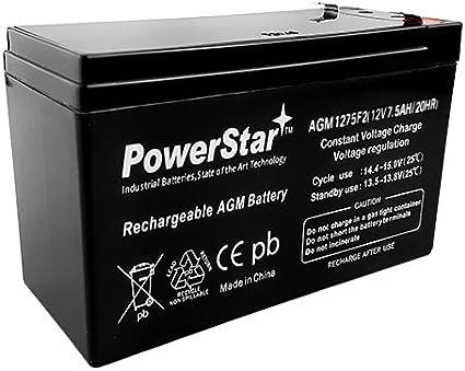 Amazon Com Powerstar Battery Replaces B B Battery Bp7 12 Battery 12v 7 5ah Home Audio Theater