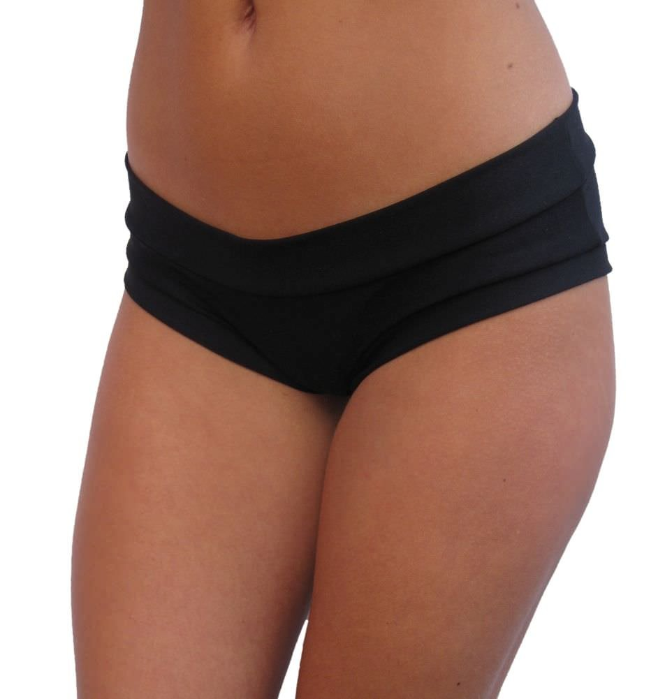 Delicate Illusions High Performance Yoga Pole Fitness Booty Shorts S (3-5) Black