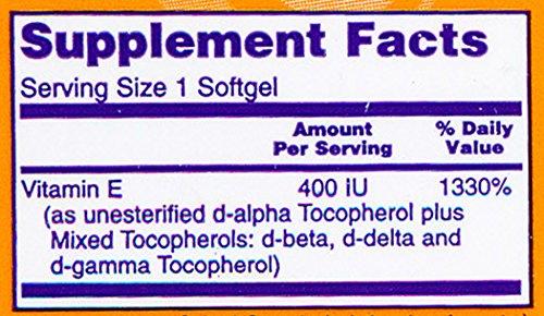 NOW E 400 Mixed Tocopherols,50 Softgels