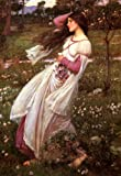 WINDFLOWERS SPRING GIRL BY WATERHOUSE LARGE FINE ART LARGE POSTER
