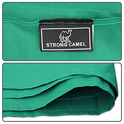 Strong Camel Dual Tier Gazebo Replacement 10' x 10' Canopy Top Cover Awning Roof Top Cover (Green) : Garden & Outdoor