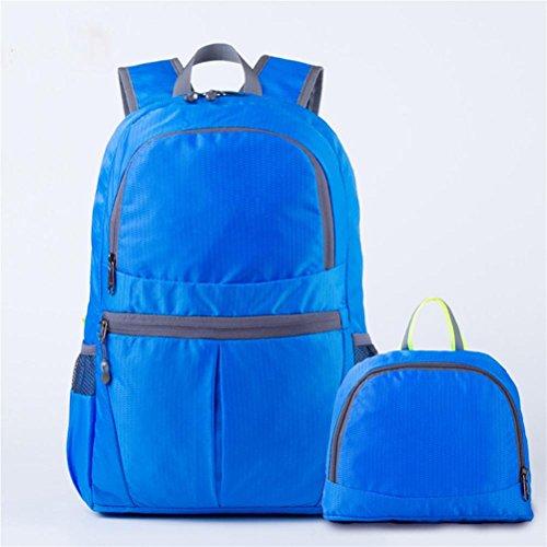 Plegable multi-color de los deportes al aire libre bolsa de nylon 20L impermeable escalada bolsa , dark blue Dark Blue