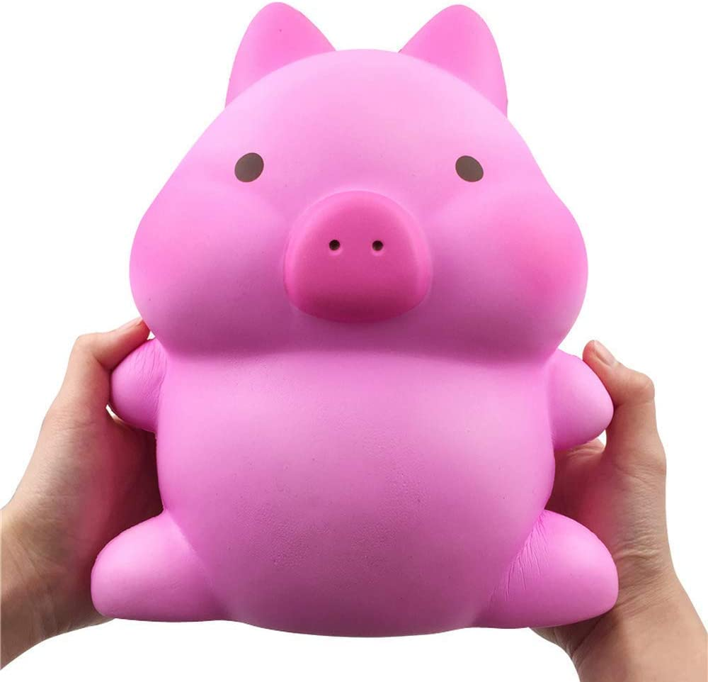 Giant Animal Squishy Toy Soft Slow Rising Squishies Jumbo Squishy Toy Gifts Home Decor Stress Reliever (Pink Piggy)