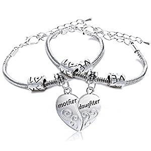 YOYONY Stainless Steel Adjustable Expandable Wire Bangle Bracelet with Crystal Charm Silver Tone Gift